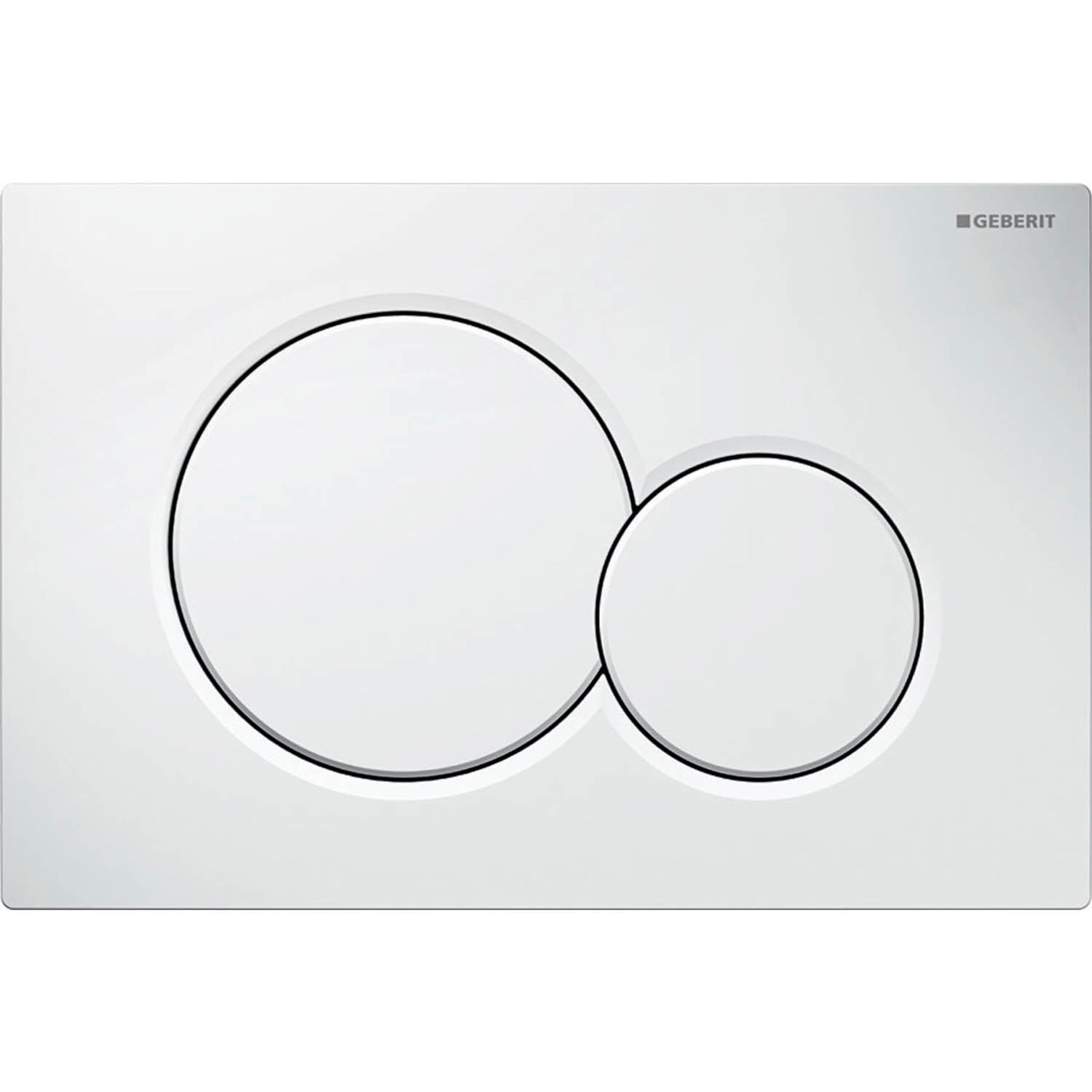 Sigma Joint Button Dual Action Flush Plate with a white finish on a white background