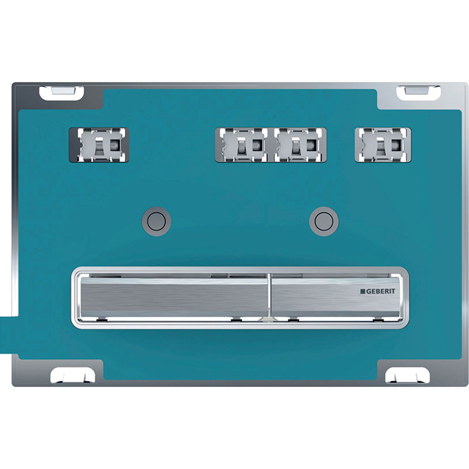 Sigma Rectangular Dual Action Flush Plate with a custom colour finish on a white background