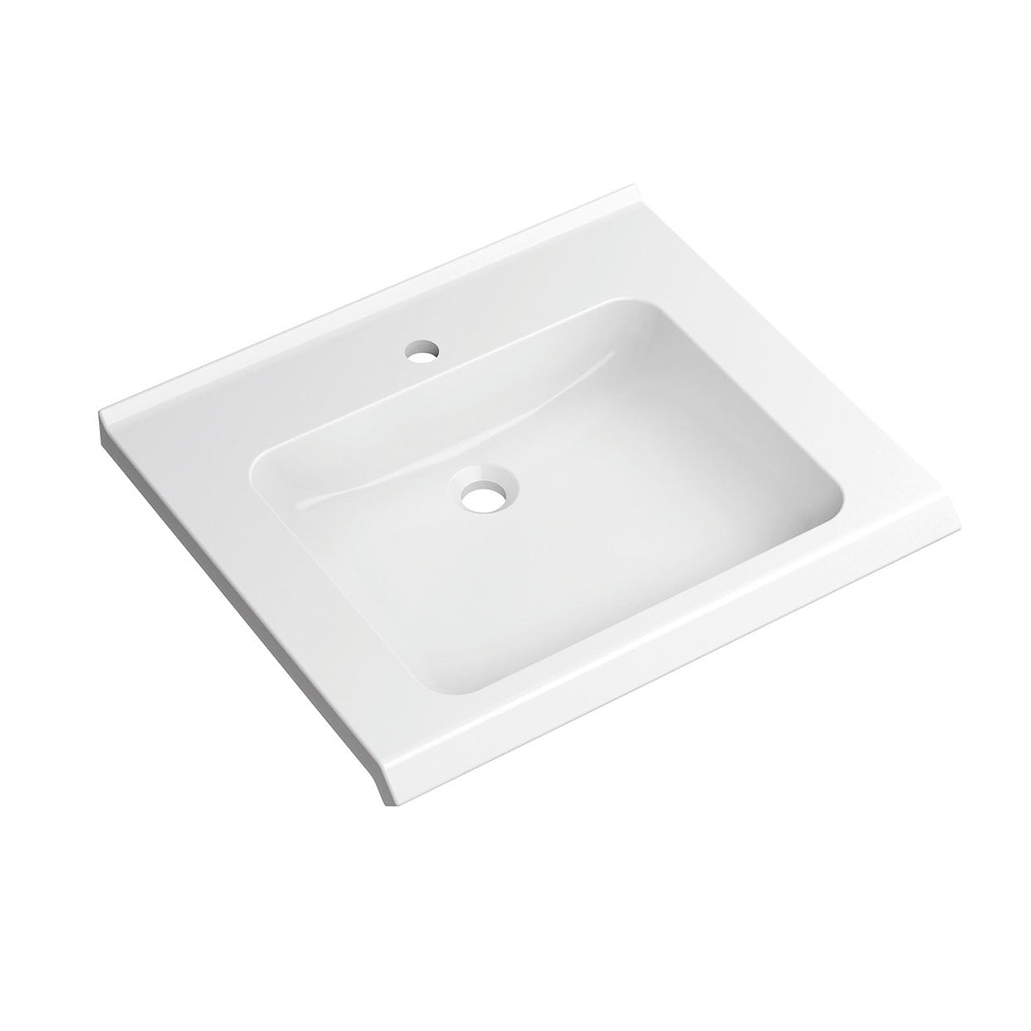 650mm SurfaceHold Wall Hung Basin with one tap hole on a white background