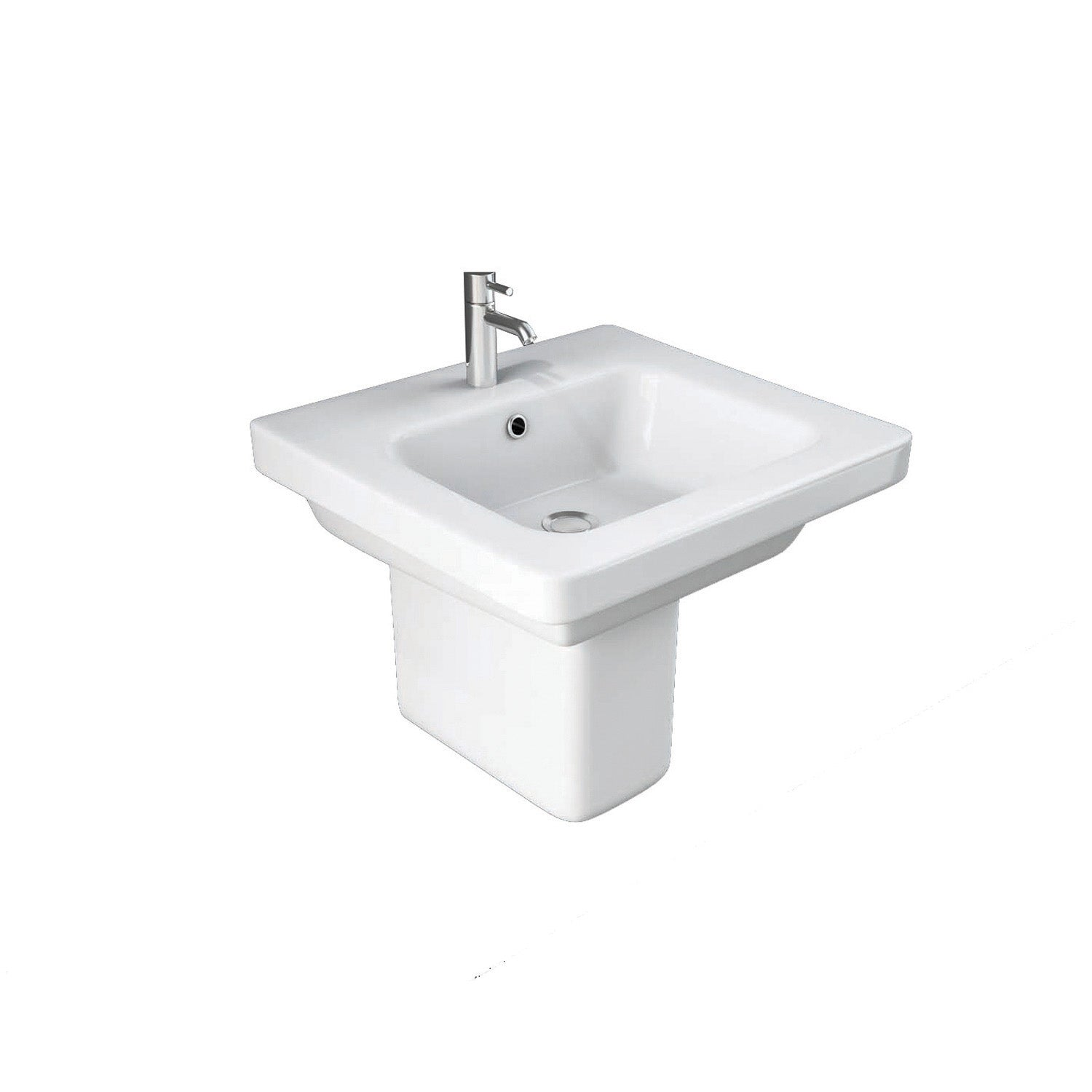 650mm Vesta Wall Hung Basin on a white background