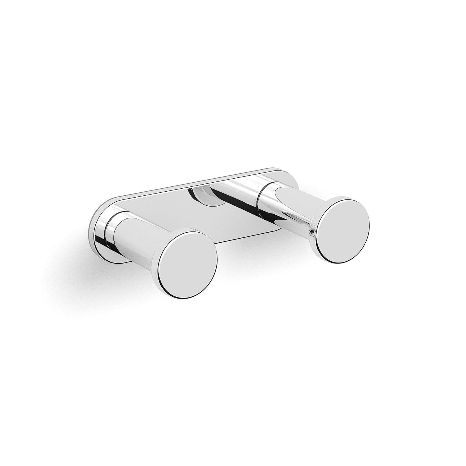 Double Modale Robe Hook with a chrome finish on a white background