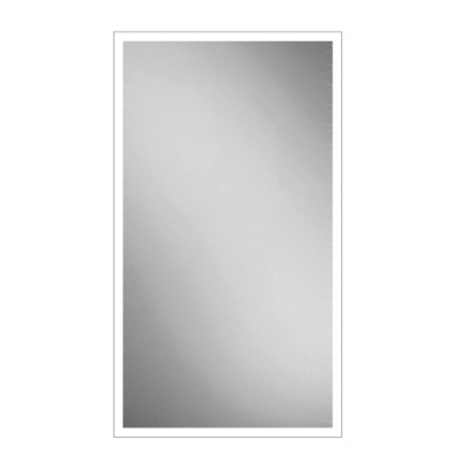 800x450mm Front Lit LED Light Mirror on a white background