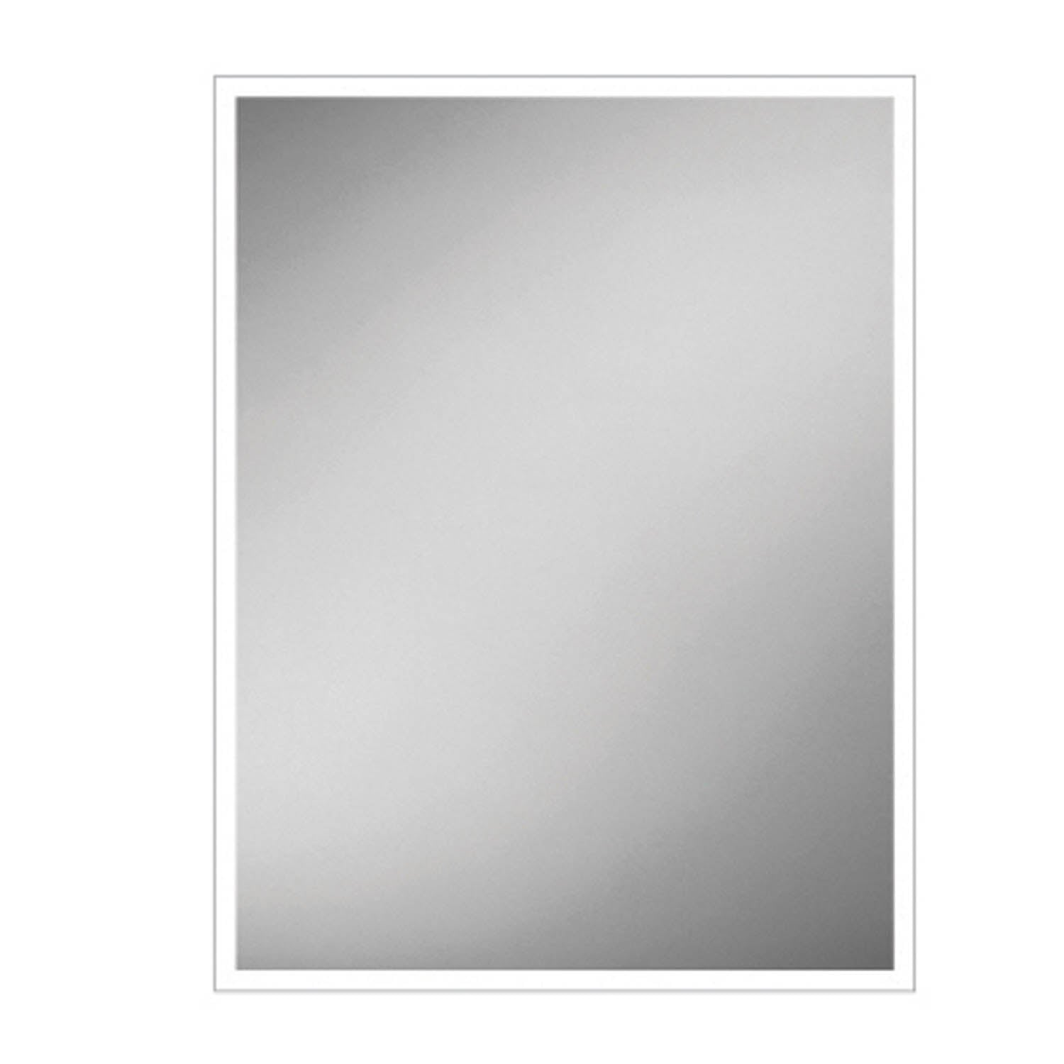 800x600mm Front Lit LED Light Mirror on a white background