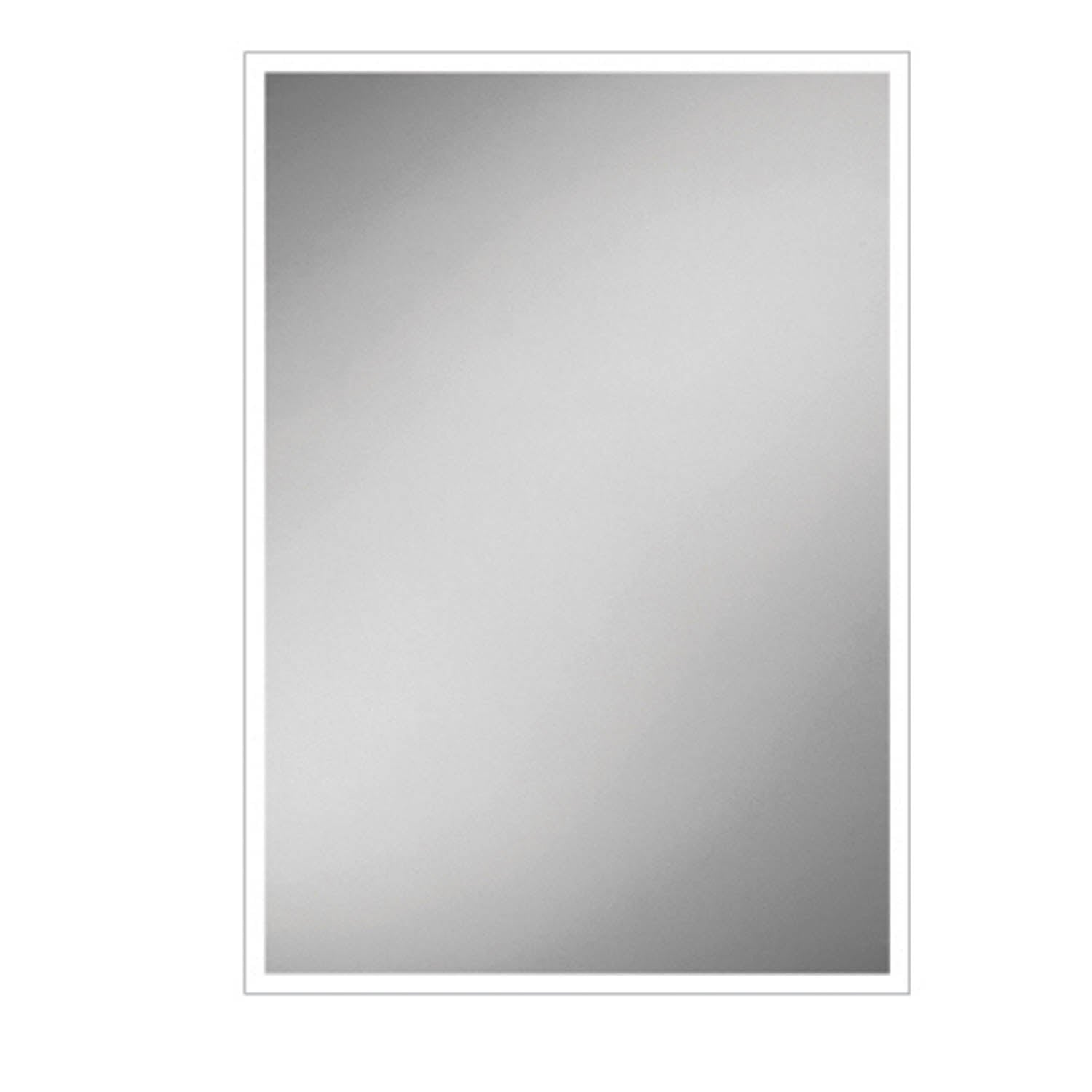 900x600mm Front Lit LED Light Mirror on a white background
