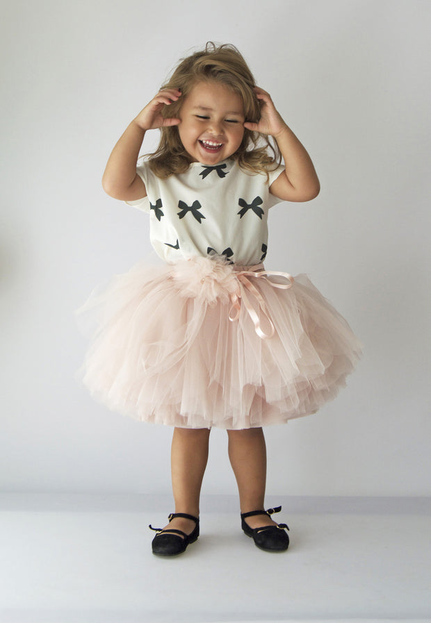 Ballerina Stye Tutu Skirt with Elastic waistband - Pale Powder Pink