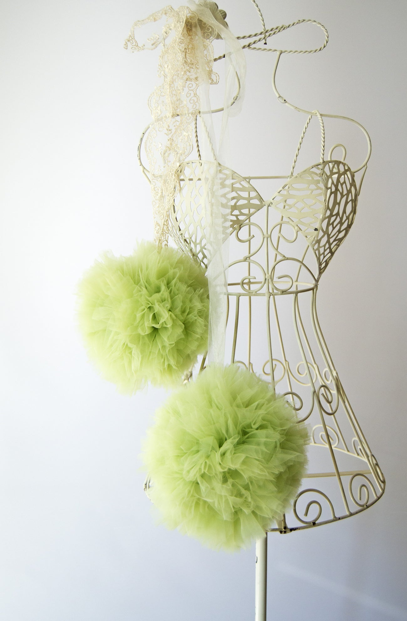 Tulle pom pom - Green Apple