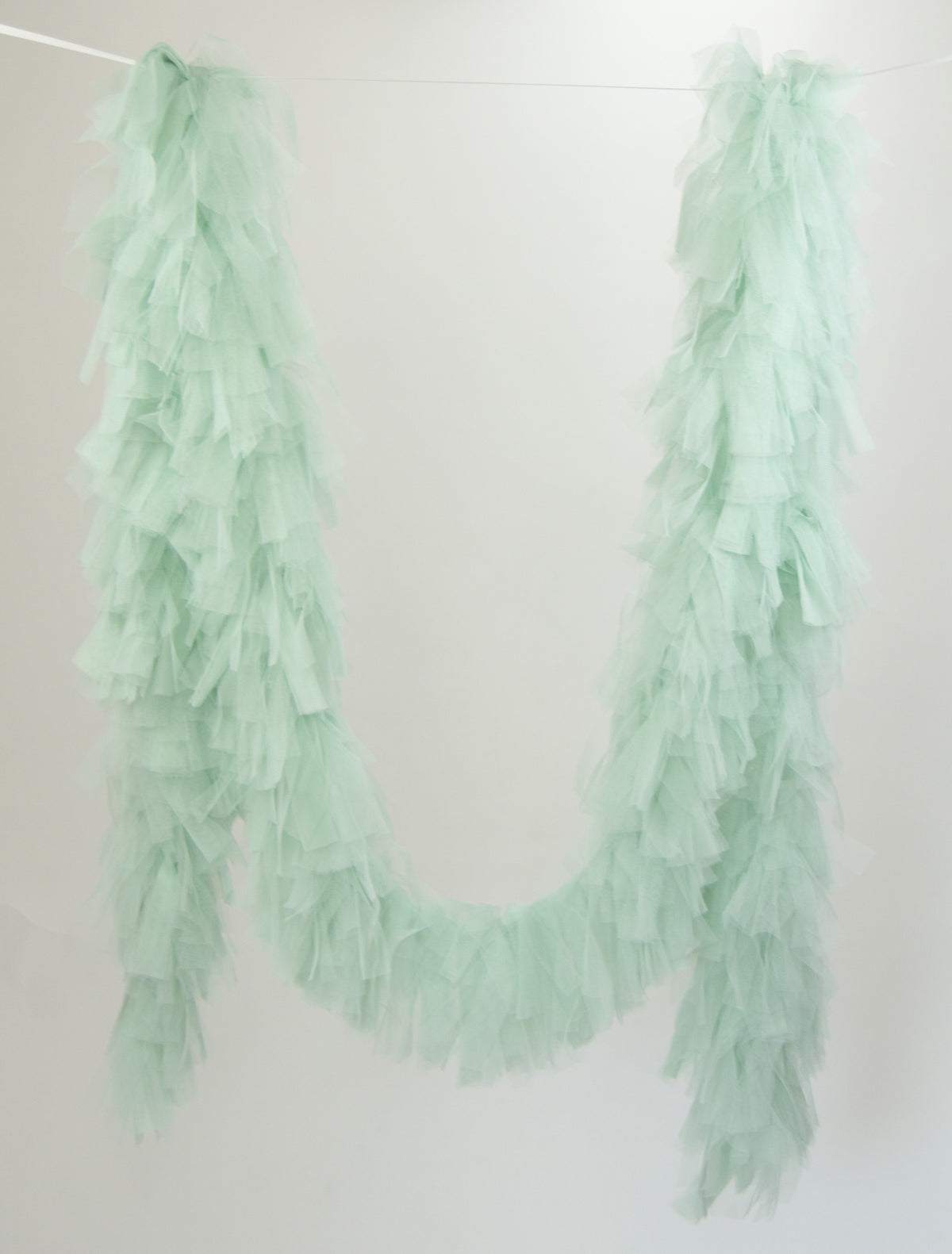 Tulle Garland. Tulle Boa -Pale Mint