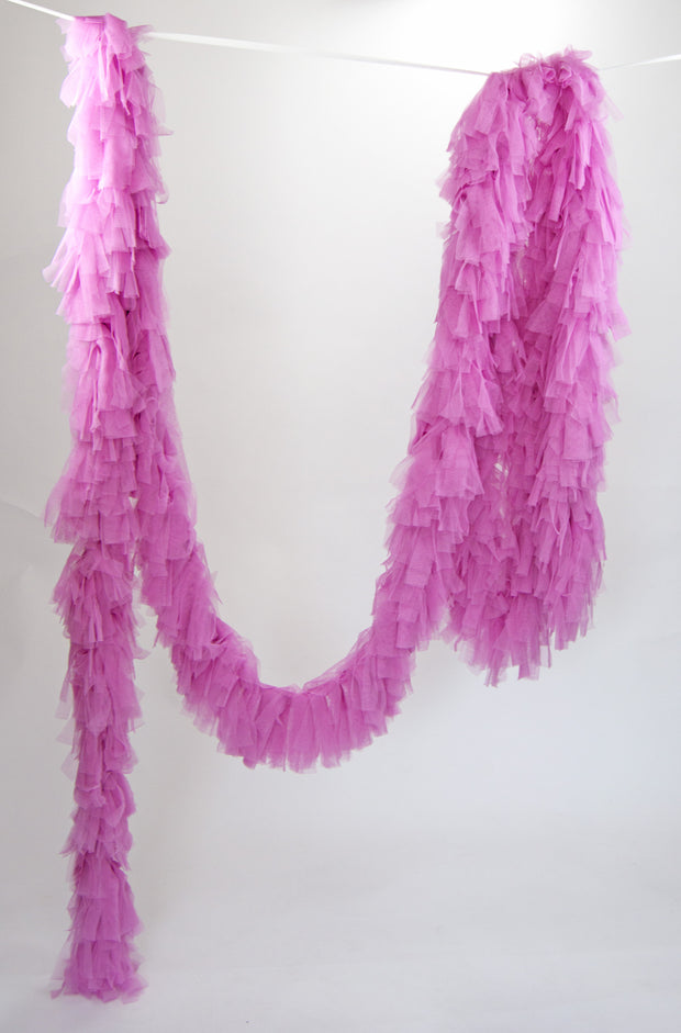 Tulle Garland. Tulle Boa - Orkide Pink
