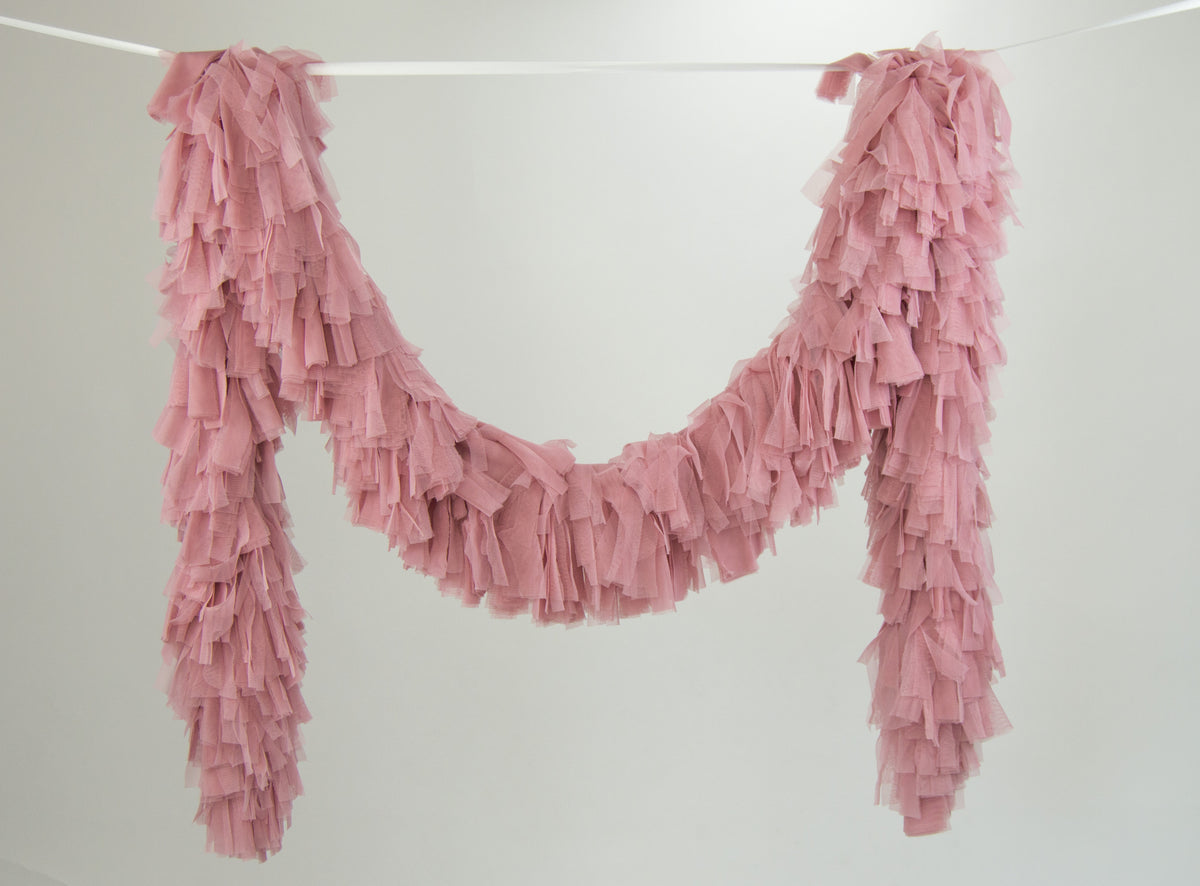 Tulle Garland. Tulle Boa - Dusty Blush Pink
