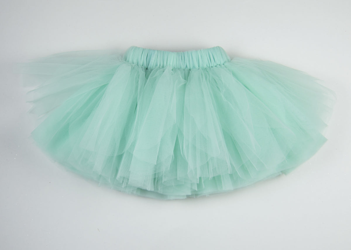 Ballerina Stye Tutu Skirt with Elastic waistband - Mint