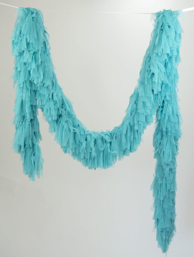 Tulle Garland. Tulle Boa - Teal