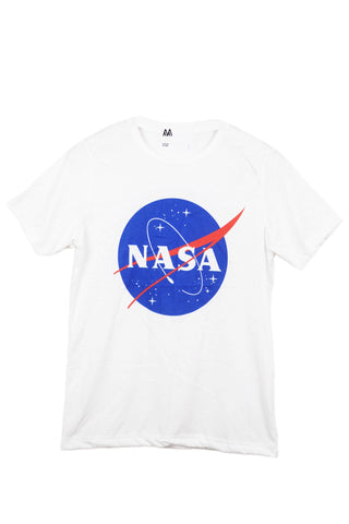T-shirt logo nasa blanc