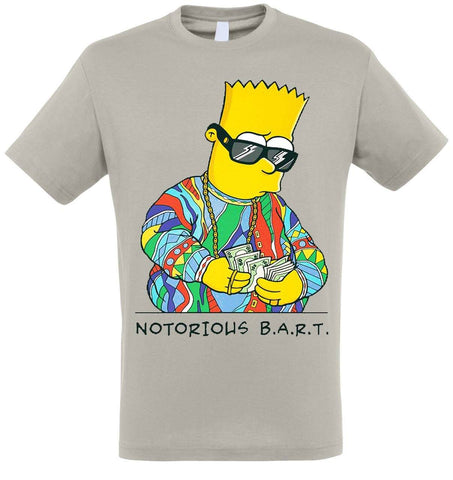 T-shirt bart simpson gris