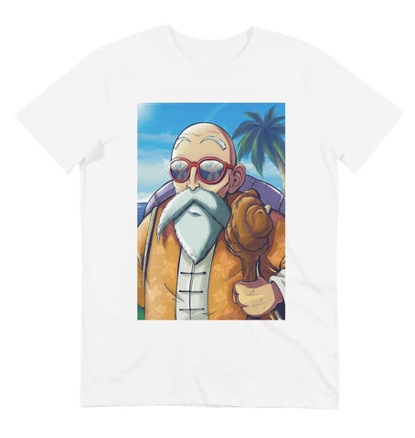 T-shirt illustration tortue geniale blanc