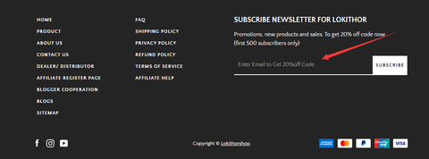 HOW TO SUBSCRIBE NEWSLETTER FOR LOKITHOR