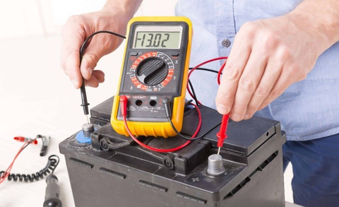 Measure the battery voltage