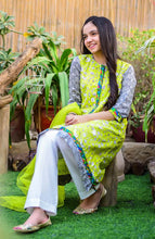 Load image into Gallery viewer, Ochre Pret Festive- Lime Green Lawn 3 Pc Suit