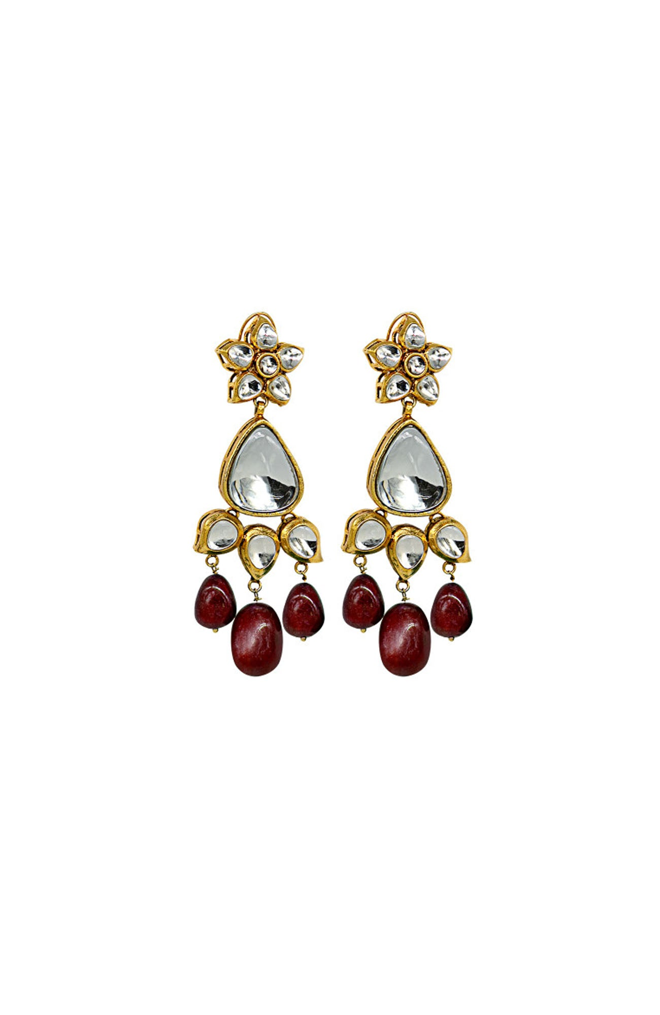 Maria.B-Earrings-JER-003-Maroon