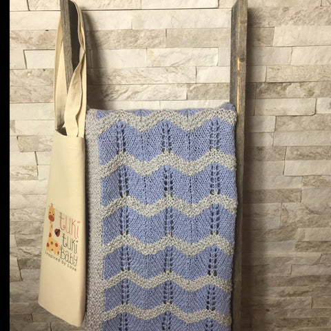 Blue & Grey Stroller Blanket