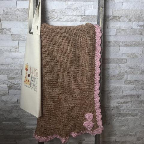 Pink Hearts Blanket