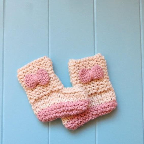 Almond & Rosie Pink Booties