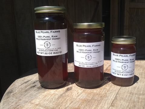 Blue Pearl Farms - Raw Wildflower Honey 22 OZ