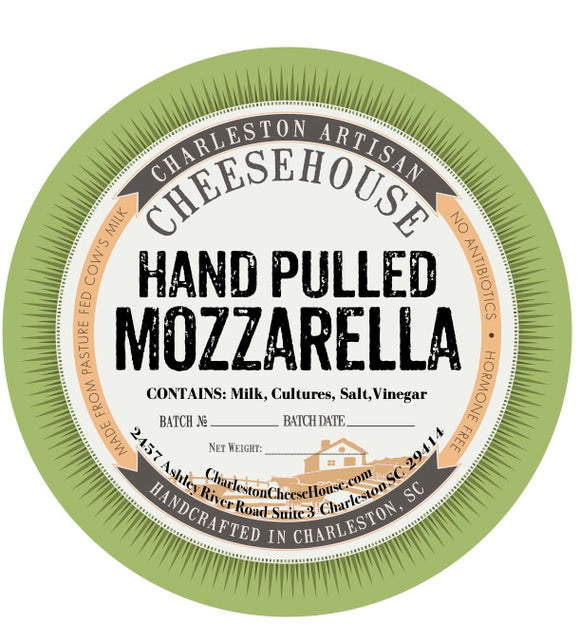 Fresh hand pulled mozzarella