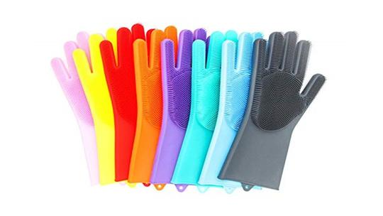 Combo 2 - Silicone Oven Mitt + Silicone Cleaning Gloves