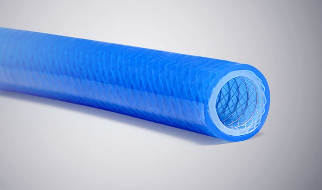 Imavacfit® Platinum Cured Silicone Hose reinforced with Polyester Braiding and SS 316 Helical Wire