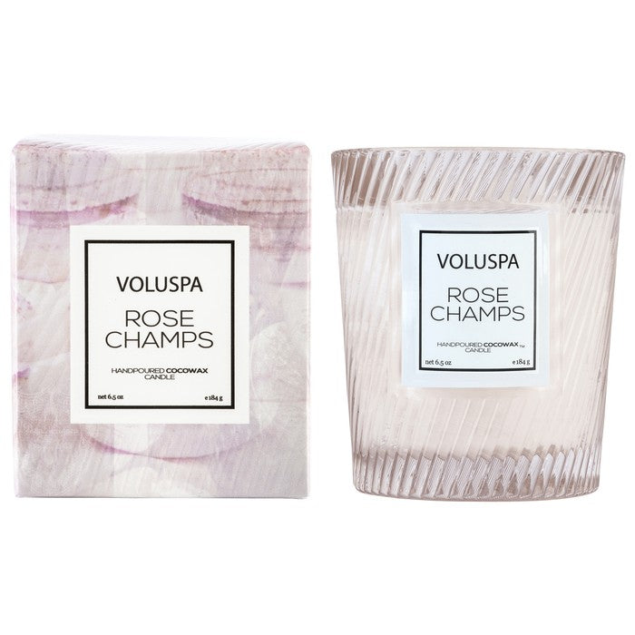 Voluspa Classic Textured Candle-Rose Colored Glasses