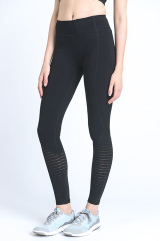 Black Burnout Mesh Leggings