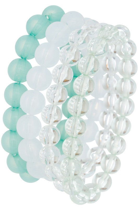 Bubble Beaded Stretch Bracelets