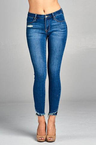 Fray is Ok Medium Wash Jeans