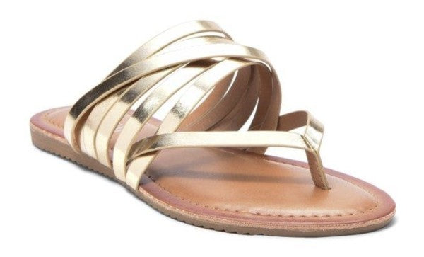 Gold BB Strappy Sandals