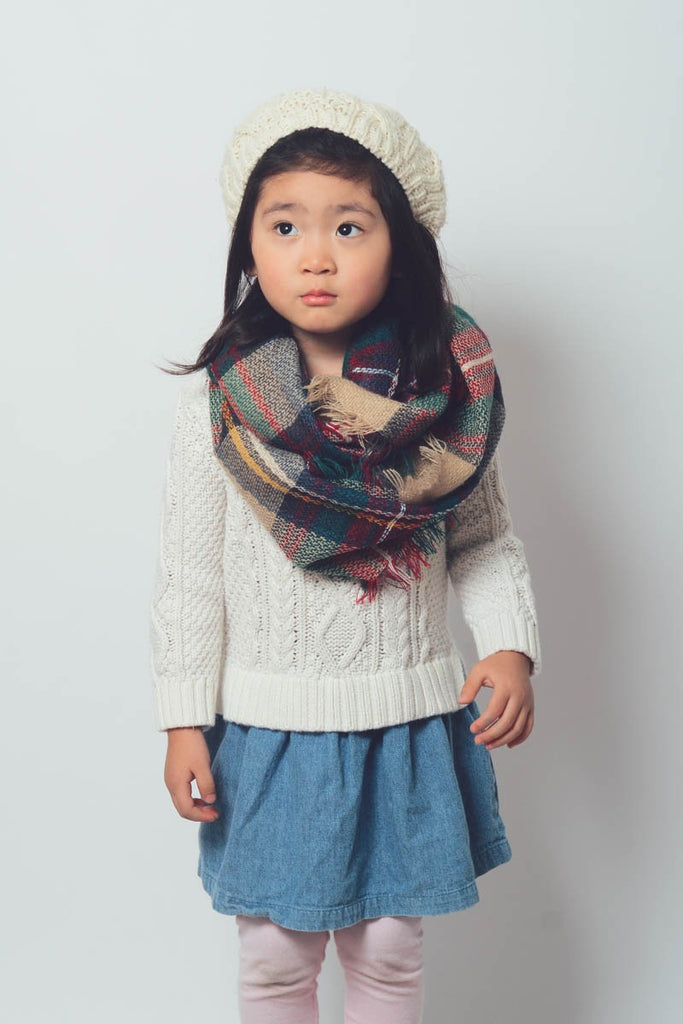 Kids Flannel Inifinity Scarf