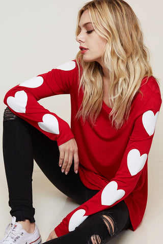 Red Queen of Hearts Long Sleeve Top