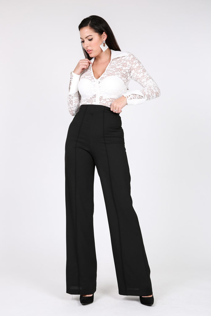 Black Beauty Wide Leg Dress Pants