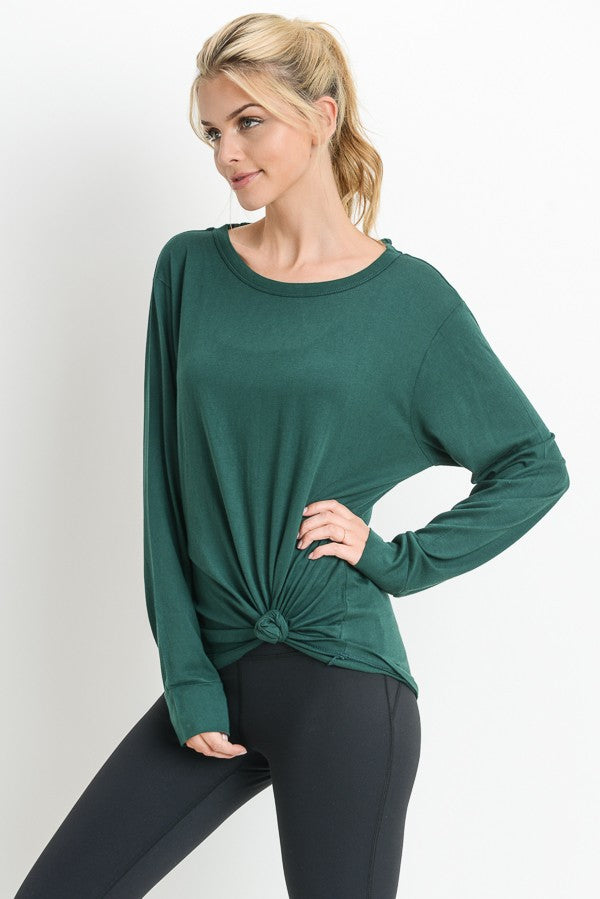 Hunter Green Cross Back Detail Top