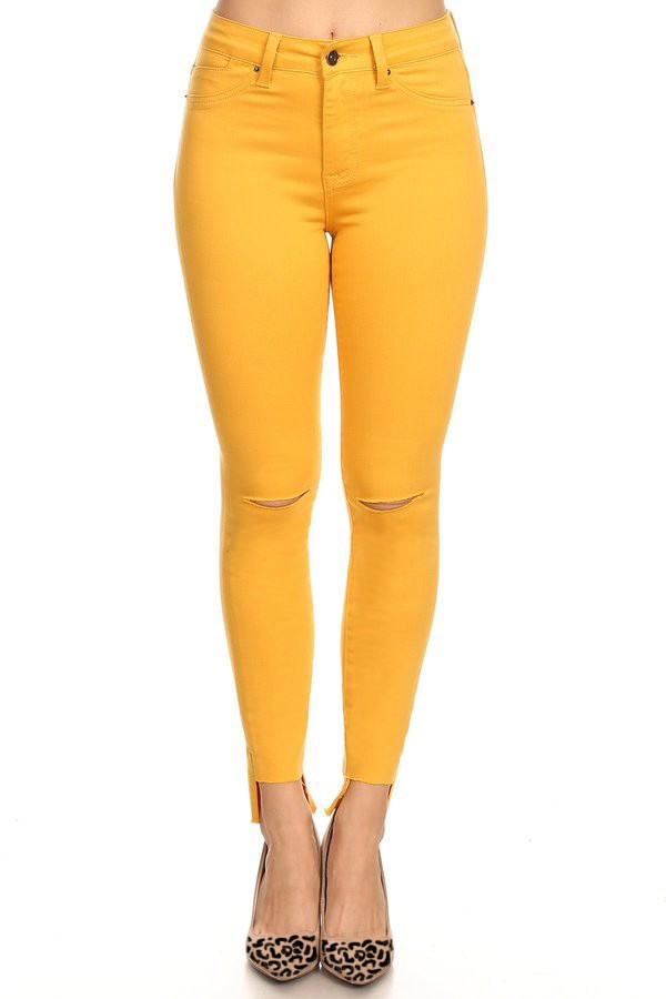 Gold Fun Fray Jeans
