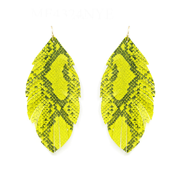 Leaf Leather Earrings