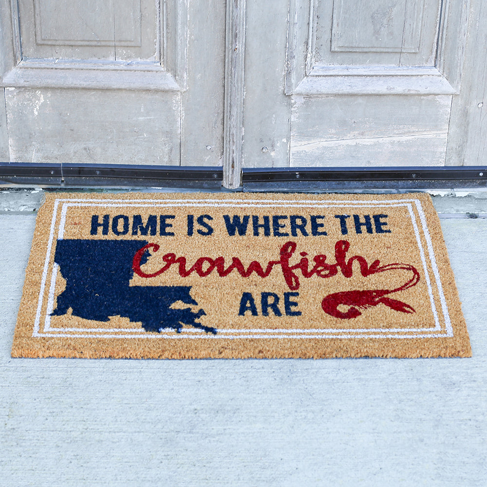 """Home is Where the Crawfish Are"" Doormat"