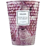 Voluspa 2 Wick Tin Candle-Rose Petal Ice Cream