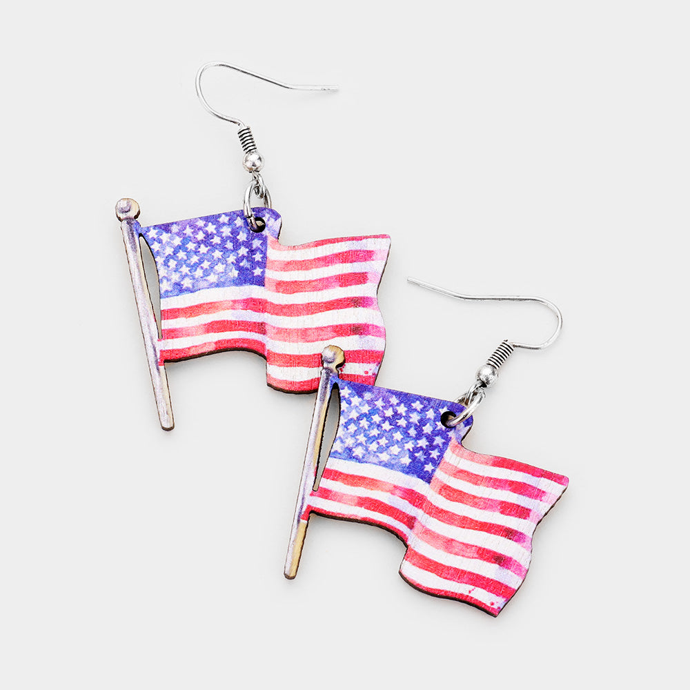 Small Flag Earrings