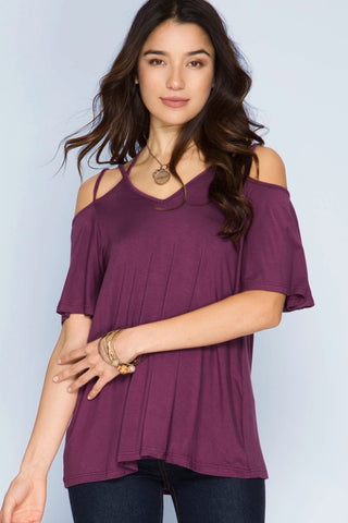 Criss Cross Crazy Dark Plum Top