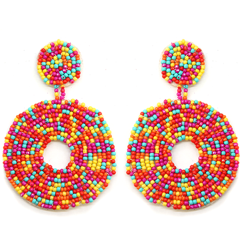 Double Drop Beaded Earrings