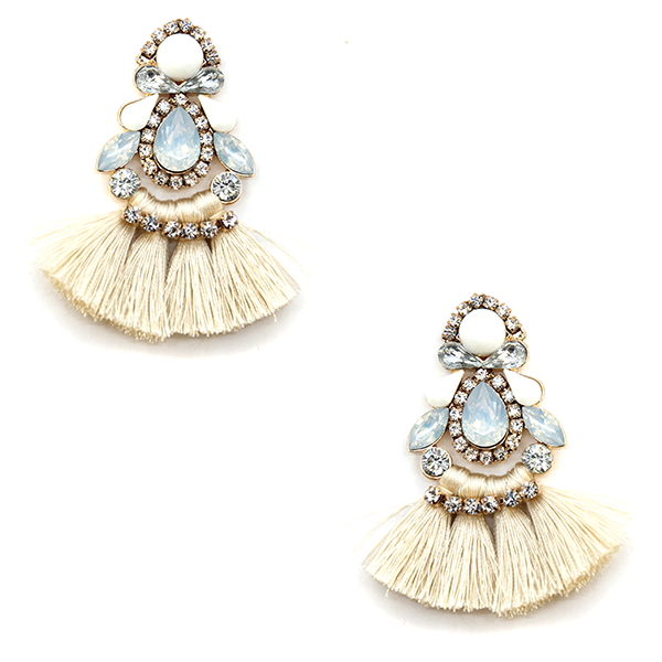 Be a Gem Tassel Rhinestone Earrings
