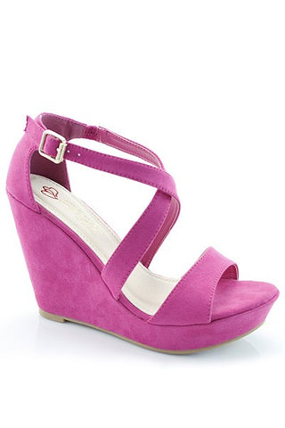 Vera Hot Pink Wedge