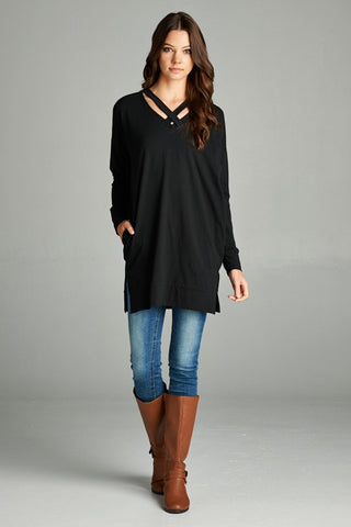Black CC Tunic with Pockets