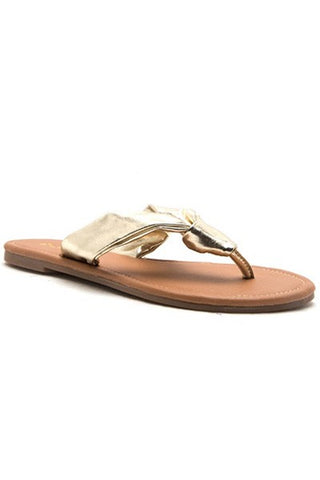 Summertime Gold Slip On Sandal