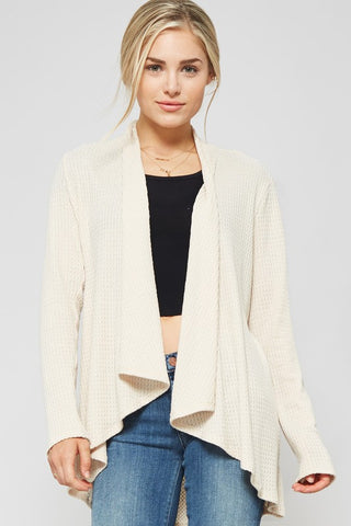 Cream Open Lightweight Cardigan